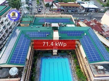 Rooftop Solar Panel Installation John B. Lacson Foundation Maritime University Iloilo