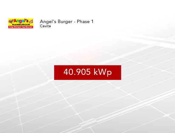 Rooftop Solar Installation Angels Burger Cavite