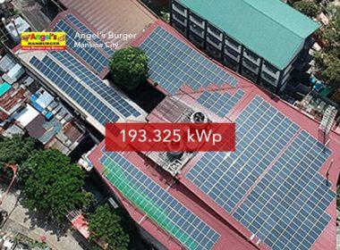 Rooftop Solar Panel Installation Angels Burger