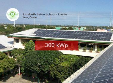Rooftop Solar Panel Installation Elizabeth Seton School - Cavite