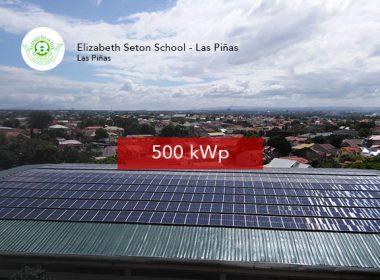 Rooftop Solar Panel Installation Elizabeth Seton School - Las Pinas