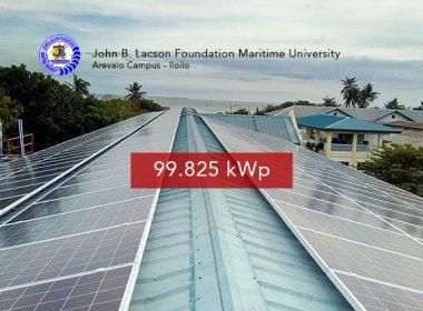 Rooftop Solar Panel Installation John B. Lacson Foundation Maritime University Arevalo