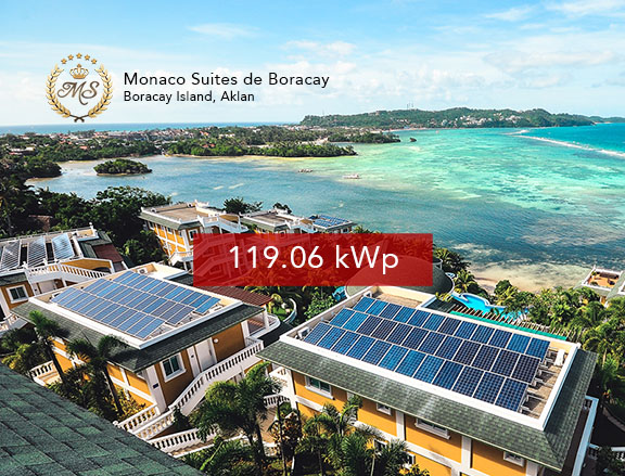 Rooftop Solar Panel Installation Monaco Suites de Boracay