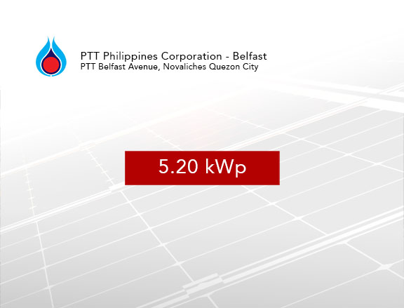 Rooftop Solar Panel Installation PTT Philippines Corporation - Belfast