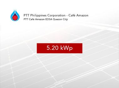 Rooftop Solar Panel Installation PTT Philippines Corporation - Café Amazon