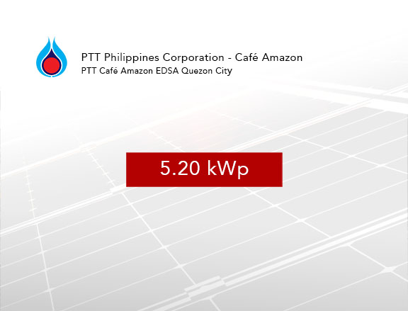 Rooftop Solar Panel Installation PTT Philippines Corporation - Café Amazon