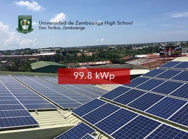 Rooftop Solar Panel Installation Univesidad de Zamboanga - High School
