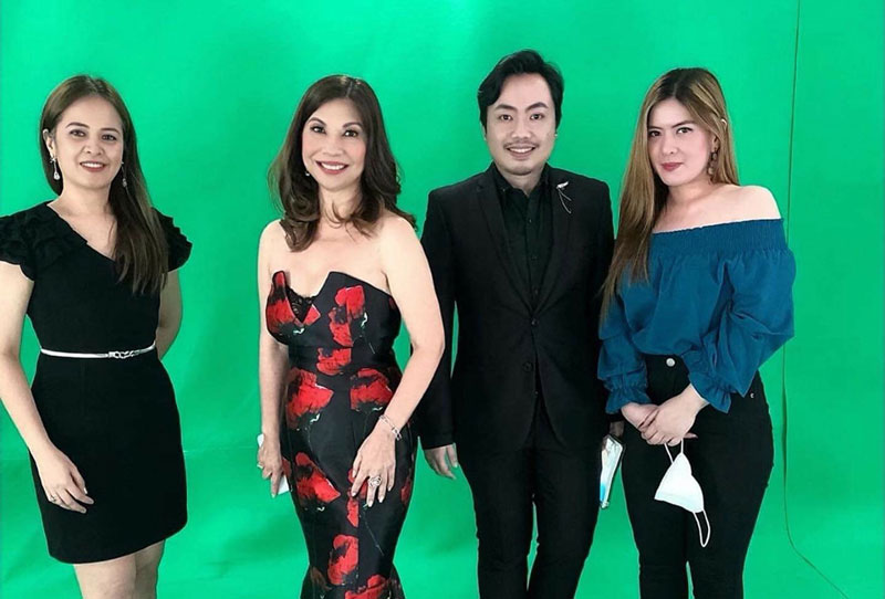 (From left) PeopleAsia marketing manager Jannette Velasco, the author, managing editor Jose Paolo Dela Cruz and events coordinator Gian Carla Guerrero